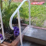 Photo of small handrail at two steps