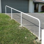 Photo of handrail up driveway
