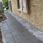 Photo of paving around side of home